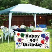 Happy 90th Birthday 2'x4' Vinyl Banner