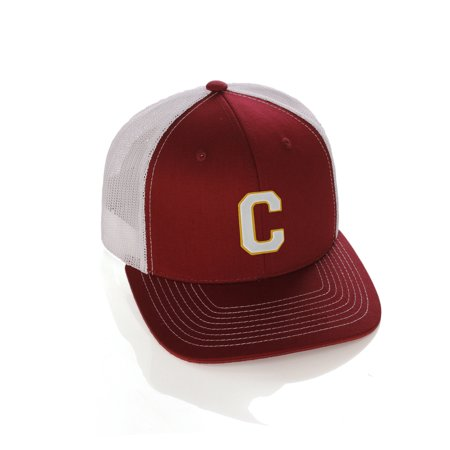 Structured Trucker Mesh Hat Custom Colors Letter C Initial Baseball Mid Profile](Custom Raiders Hat)