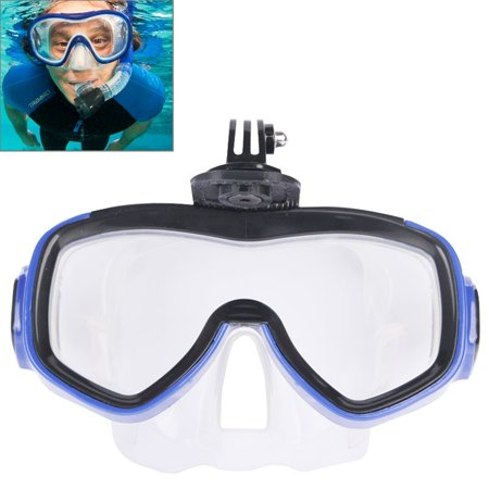 AMZER Water Sports Diving Equipment Diving Mask Swimming Glasses for GoPro NEW HERO /HERO6 / 5 /5 Session /4 /3+ /3 /2 /1 (Go Pro Hero 4 Dive Mask)