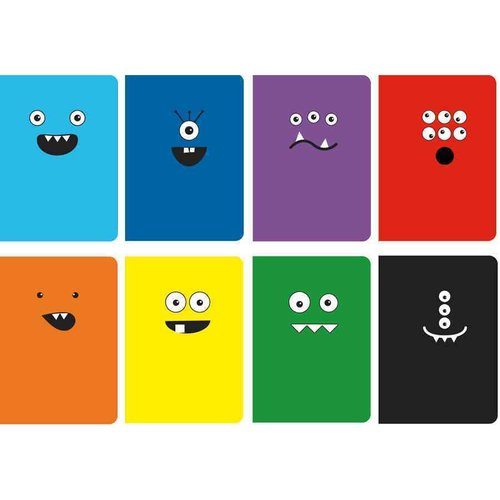 Pocket Pal Mini Journals - Set of 8 - Monster Tales