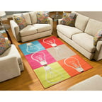 Terra Edison Rectangle Area Rug, Multi-Color