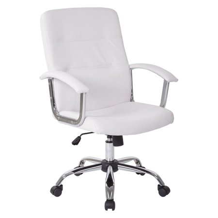 Malta Office Chair White Vinyl