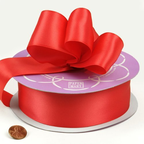 "Dark Coral Double Face Satin Ribbon, 1-1/2"" X 50Yd"