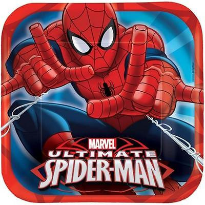 Istilo Amscan 551355 9 in. Spider-Man Lunch Square Plates Pack of 48 Party Supplies [Istilo166566]