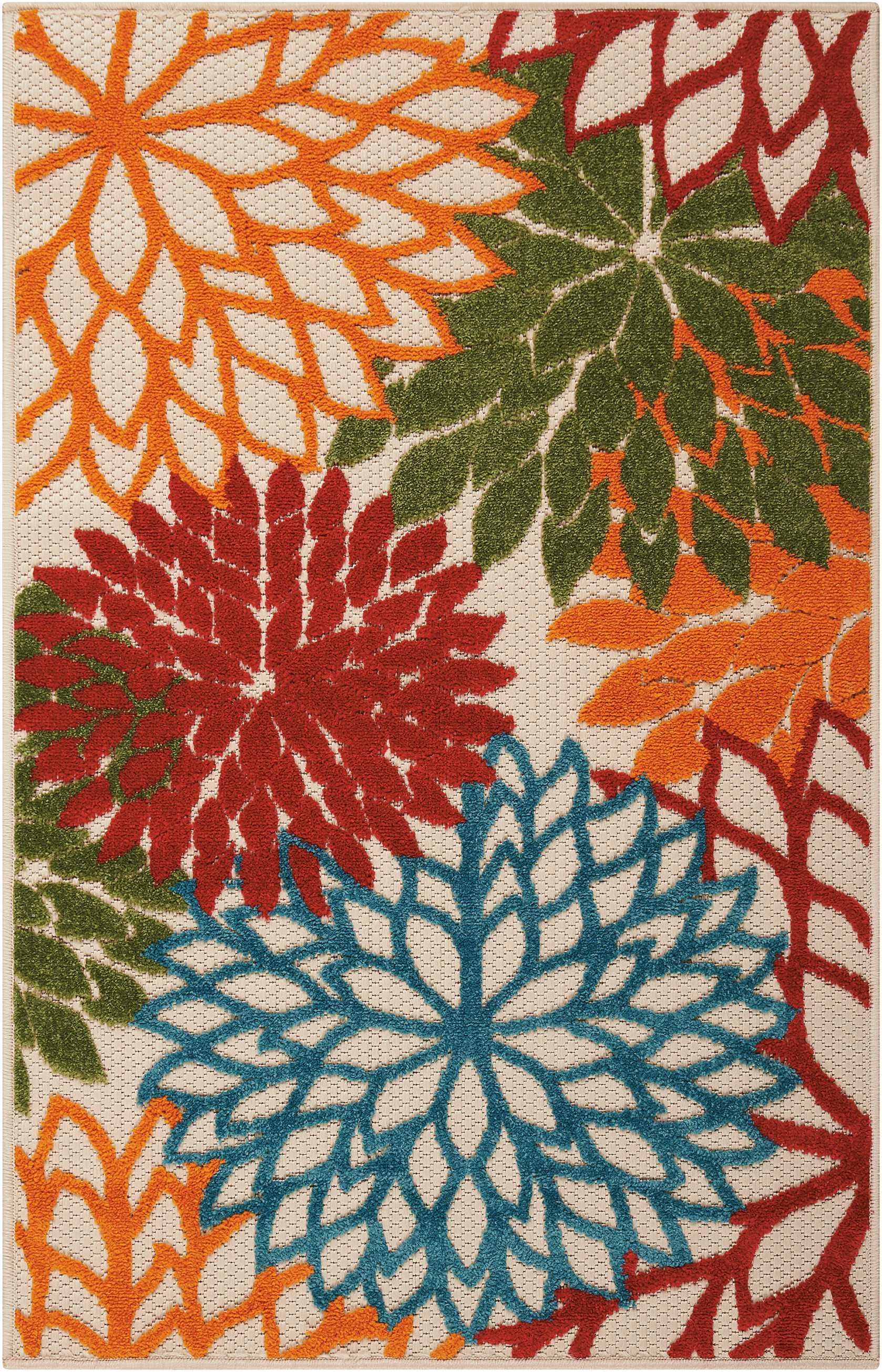 Aloha ALH05 Floral Indoor Outdoor Rug by Nourison by Nourison
