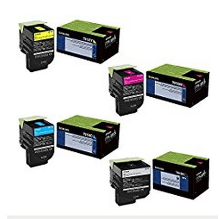 Lexmark Toner - Lexmark 70C1XC0, 70C1XK0, 70C1XM0, 70C1XY0 Extra High Yield Toner Cartridge Set - Lexmark CS510de