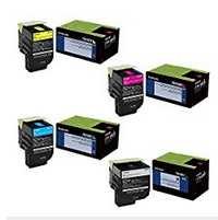 Lexmark 70C1XC0, 70C1XK0, 70C1XM0, 70C1XY0 Extra High Yield Toner Cartridge Set - Lexmark CS510de