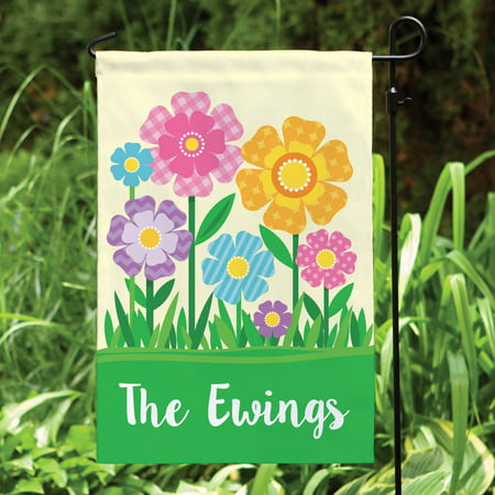 Floral Welcome Personalized Garden Flag - Personalized Garden Flags