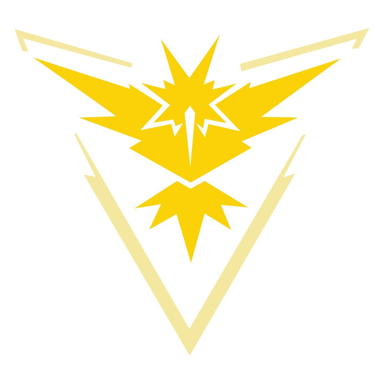 Yellow Team Mystic Pokemon GO Decal Graphic Vinyl Die Cut Stickers Large 4 x 4""