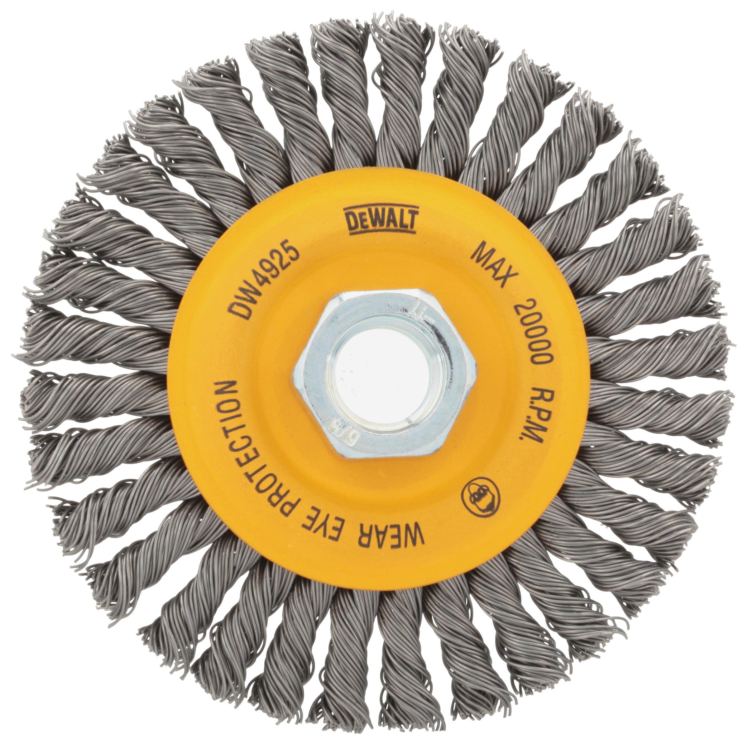 Knotted  Wire Wheel Brush  Carbon Steel  20000 rpm 1 pc. DeWalt  1 in