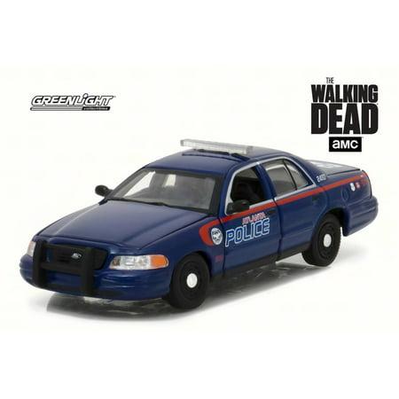2001 The Walking Dead - Ford Crown Victoria Police Interceptor Atlanta Police, Blue - Greenlight 86510 - 1/43 Scale Diecast Model Toy Car
