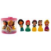 Walgreens Company Princess Vinyl Figures (Set of 5, 4.5 in) Bath Tub Pool Squeeze Toys Storage