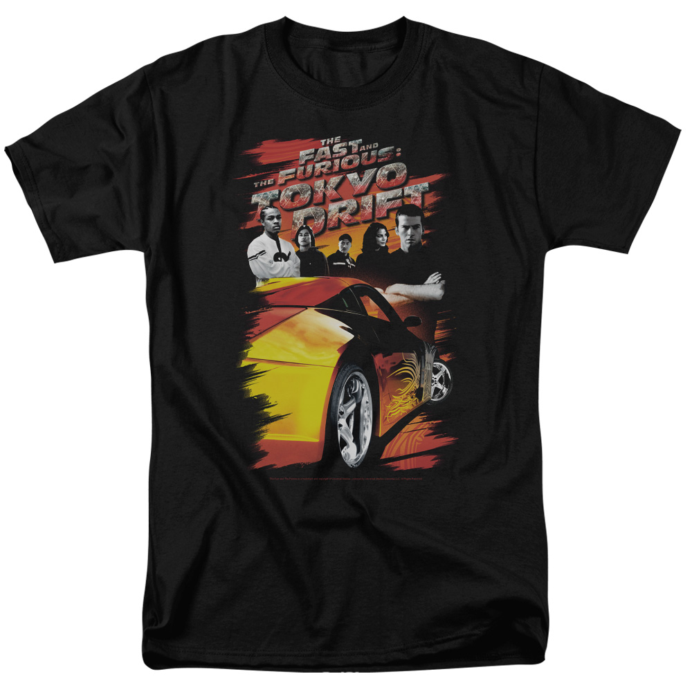 The Fast and the Furious Tokyo Drift Drifting Crew Mens Short Sleeve Shirt