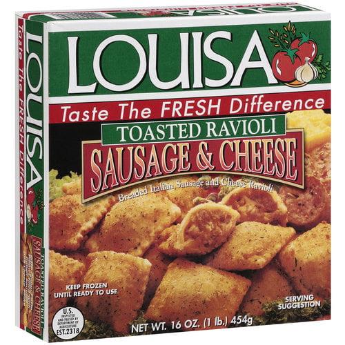 Louisa Sausage & Cheese Toasted Ravioli, 16 oz