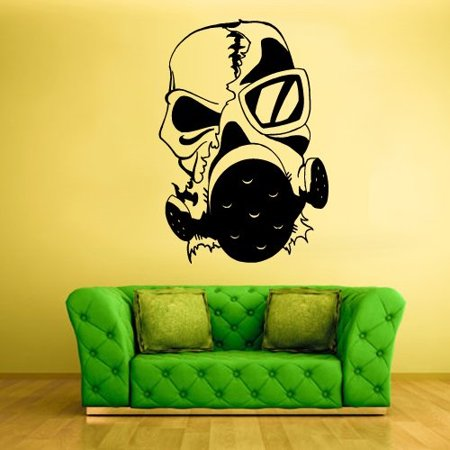 Wall Decal Vinyl Sticker Decals Gas Mask Respirator Horror Zombie Head Z2039
