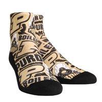 Purdue Boilermakers Rock Em Socks Women's Logo Sketch Quarter Socks - S/M