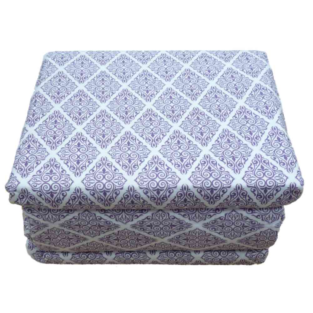 Cozy Comfort Flannel Sheet Set Purple Scroll Full Bed Size Sheets Bedding