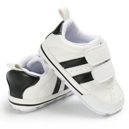 Loalirando Soft Sole Newborn Baby Boy Girl Pre-Walker White Crib Shoes Sneakers 0-18 Months