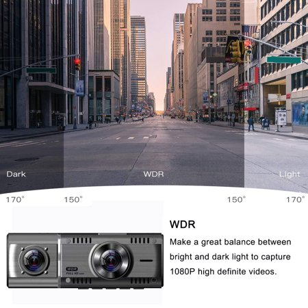 "1.5"" IPS Screen Touch Screen 1080p Car Recorder Camera , G-Sensor Dashboard Camera, Parking Monitor, HDR Night Vision, Motion Detection, Loop Recording - image 5 of 11"