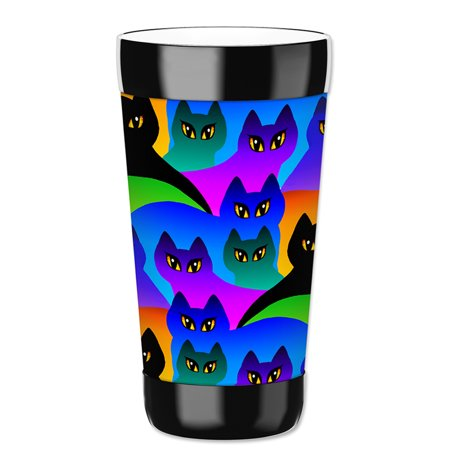 Mugzie 16-Ounce Tumbler Drink Cup with Removable Insulated Wetsuit Cover - Cat Silhouettes