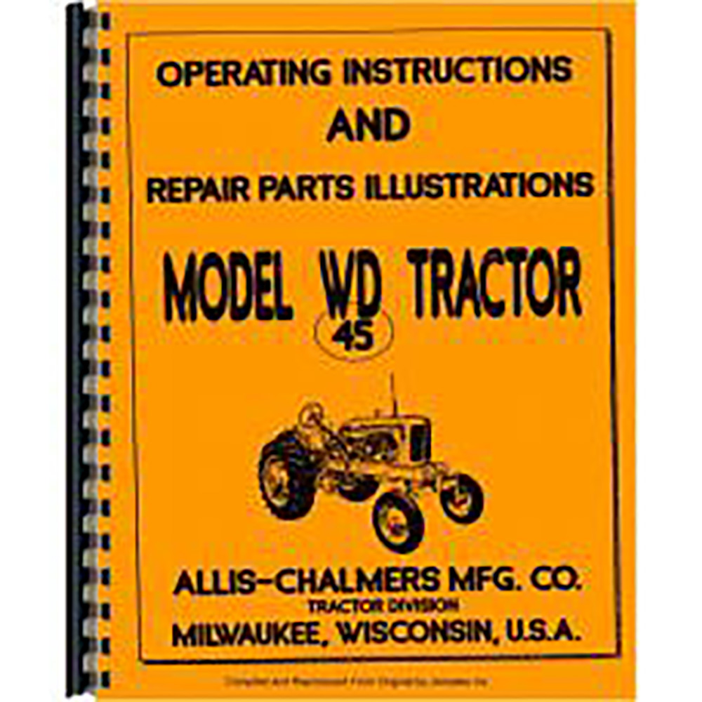 Allis Chalmers Wd45 Manual Download Free User Guide \u2022 Allis Chalmers WD  Ignition Wiring Allis Chalmers Wiring Diagram Of 45