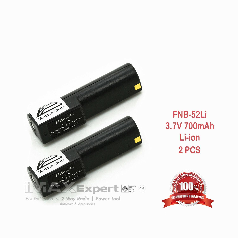 2 X New 3 7v 700mah Fnb 52li Li Ion Battery For Yaesu Vertex Vx 1r Two Way Radio Walmart Com Walmart Com