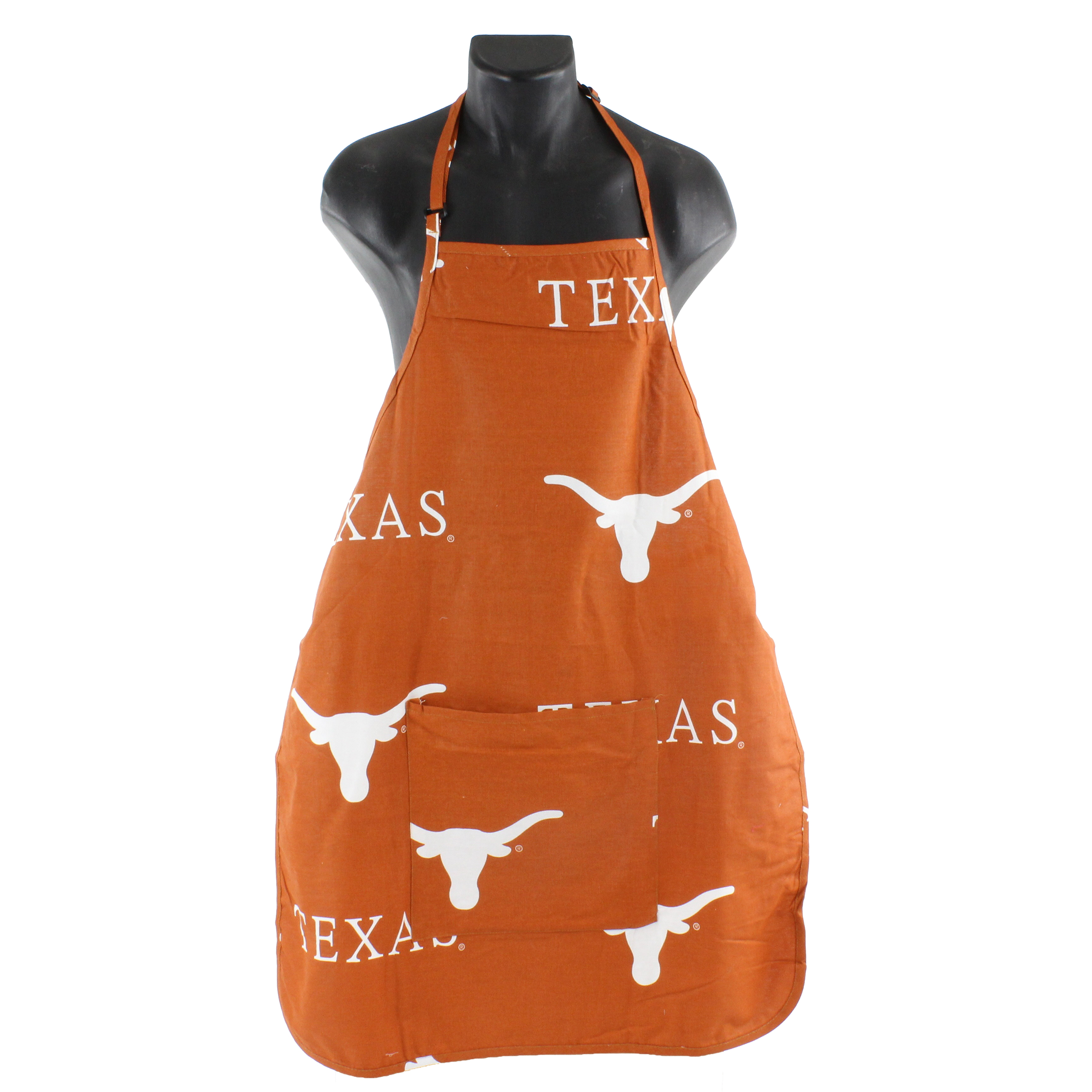 "Texas Longhorns Tailgating or Grilling Apron With 9"" Pocket, Fully Adjustable"