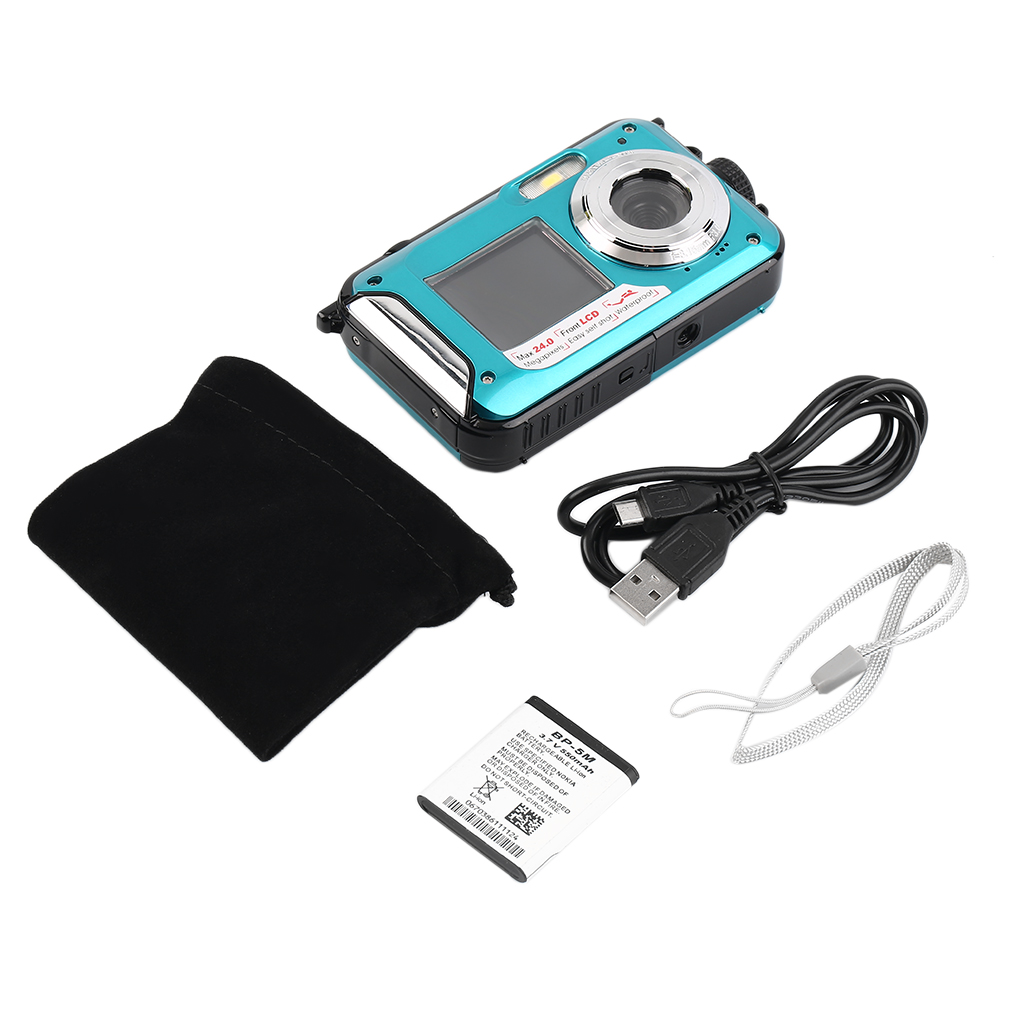 2.7inch TFT Digital Camera Waterproof 5MP MAX 1080P Double Screen 16x Digital Zoom Camcorder HD268