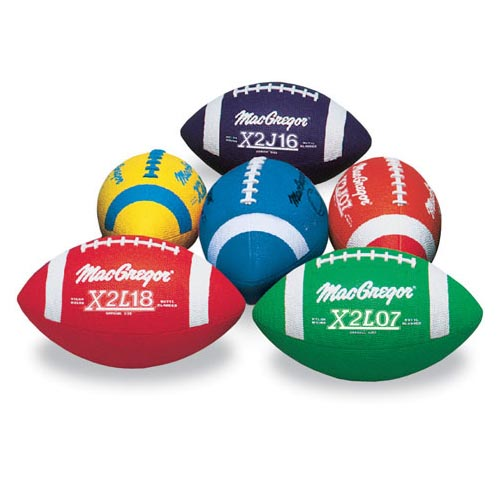 Multi-Colored Jr. Footballs, 6-Pack