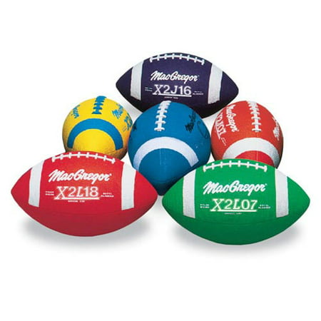 Multi-Colored Jr. Footballs, 6-Pack