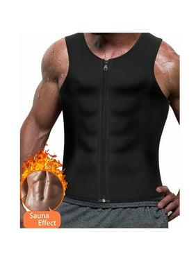 SLIMBELLE Men Zipper Waist Trainer Vest Weight Loss Hot Sweat Slimming Body Shaper Neoprene Sauna Suit Workout Tank Top