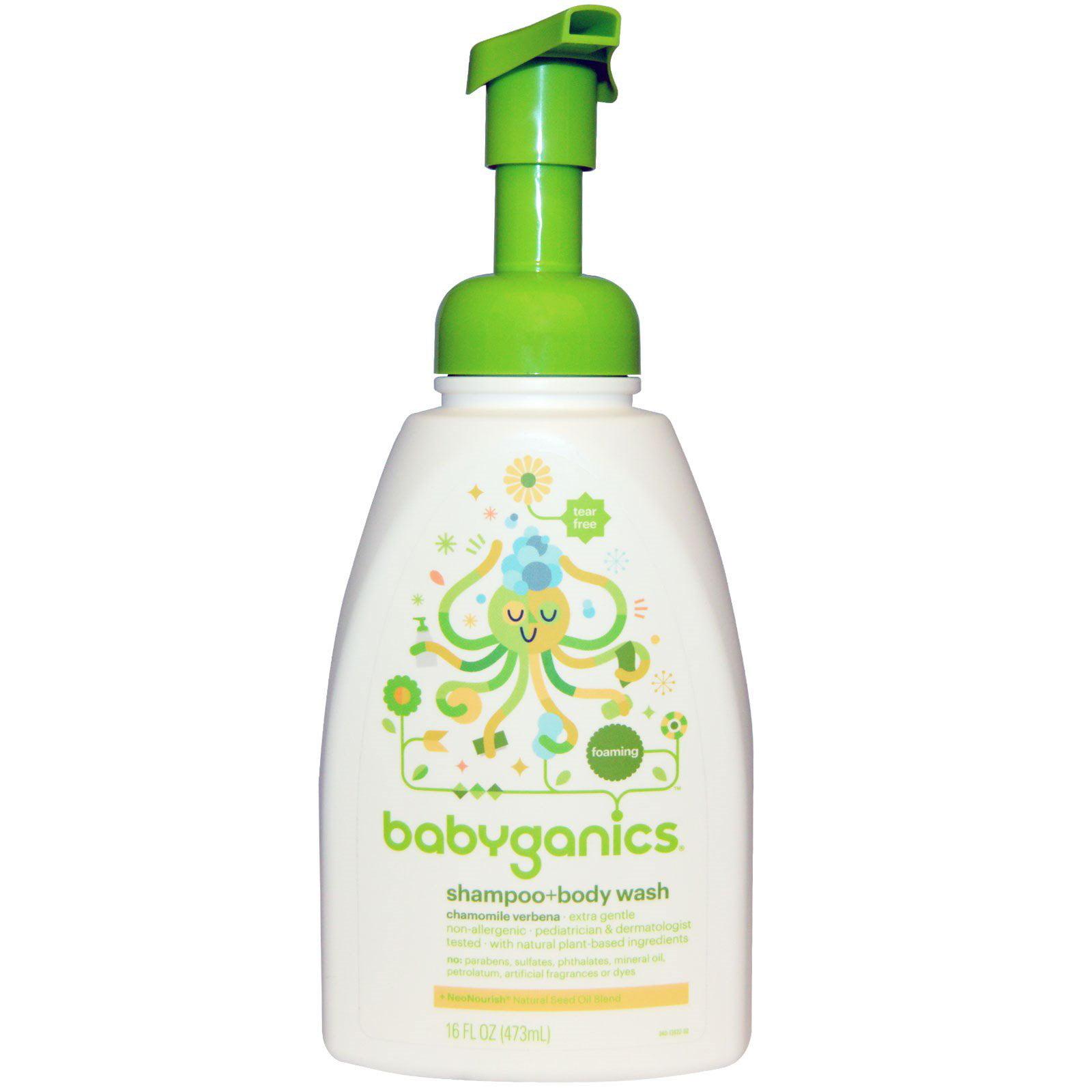 BabyGanics, Shampoo + Bodywash, Chamomile Verbena, 16 fl oz (pack of 6) by