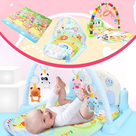 Hip Hop Play Carpet - Newborn Infant Baby Play Mat Gym Musical Piano Play Mat  Kids Activity Carpet