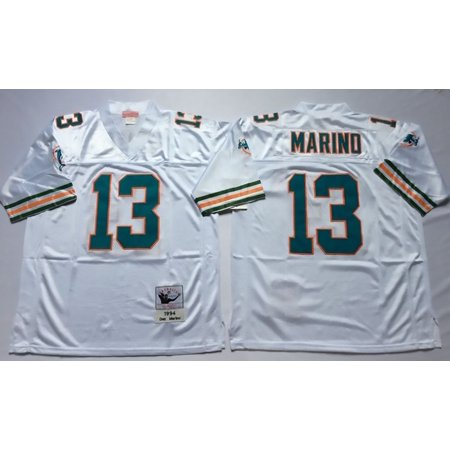 Miami Heat Mens Jerseys - Mens Miami Dolphins MARIND #13 Throwback Football Jersey White XX-Large