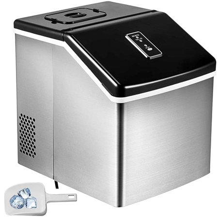 BestEquip Portable Ice Maker Auto Clear Cube Ice Making Machine With Control Panel (Ice Machine Accepts Custom Panel)