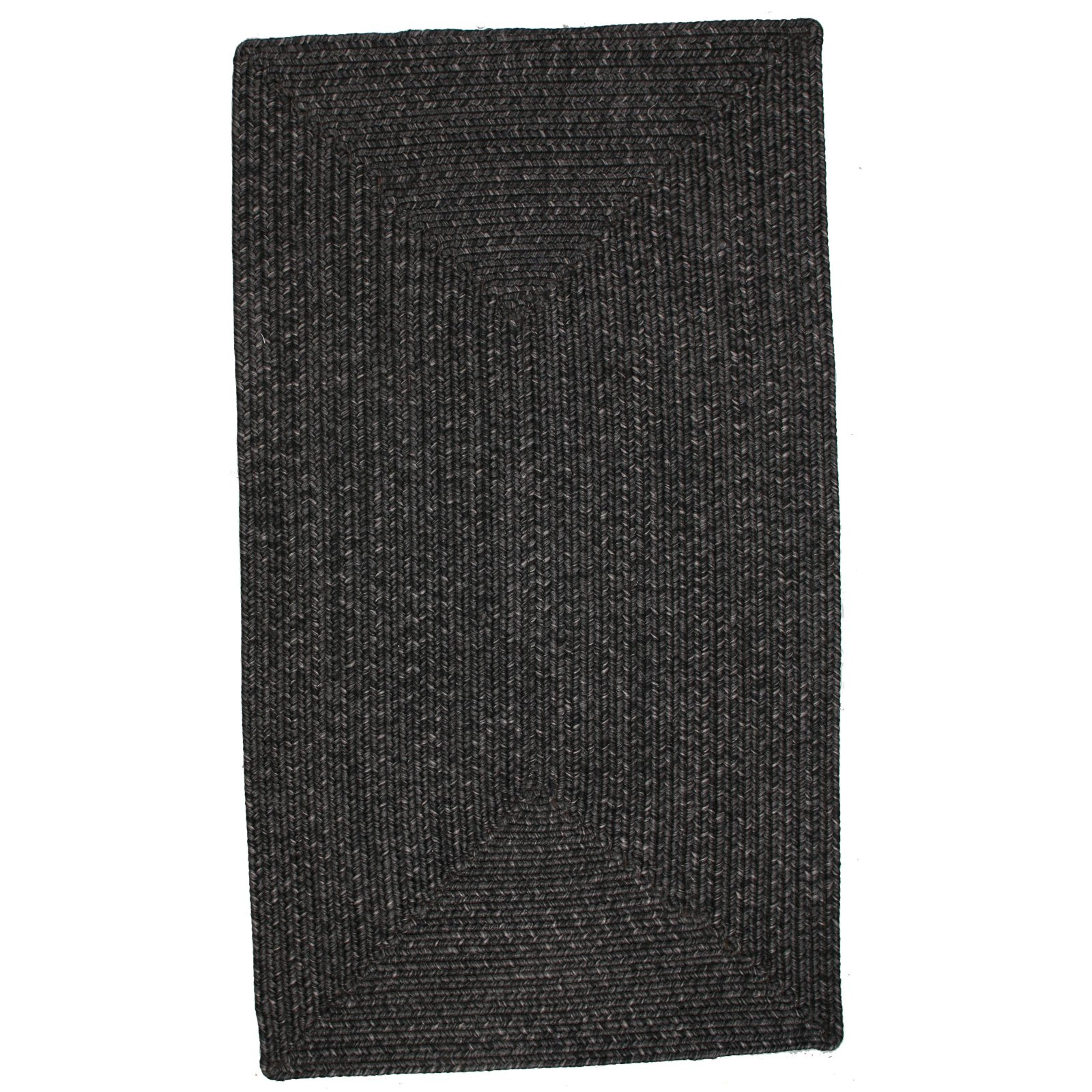 Homespice Decor Out-Durable Indoor/Outdoor Braided Area Rug - Black