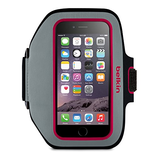 Belkin Sport-fit Plus Carrying Case [armband] For Iphone - Sidewalk, Fuschia - Scratch Resistant - Neoprene (f8w501-c01)