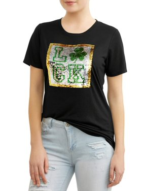 48bc15b688f48 Product Image Juniors' St. Patrick's Day Short Sleeve Graphic ...