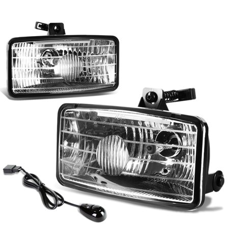 For 2000 to 2003 Chevy S10 Xtreme GMT325 Pair of Bumper Driving Fog Lights + Wiring Kit + Switch (Clear Lens) 01 02