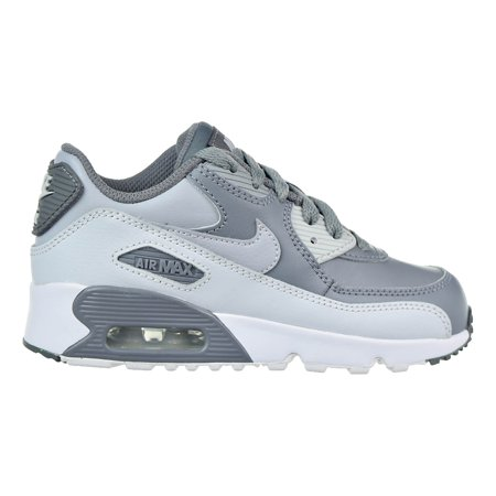 98303ff7a36 Nike Air Max 90 Leather Little Kid (PS) Shoes Cool Grey Wolf Grey White  833414-013 - Walmart.com