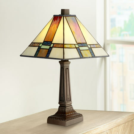 Art Deco 5 Light Antique (Robert Louis Tiffany Mission Accent Table Lamp 14 1/4