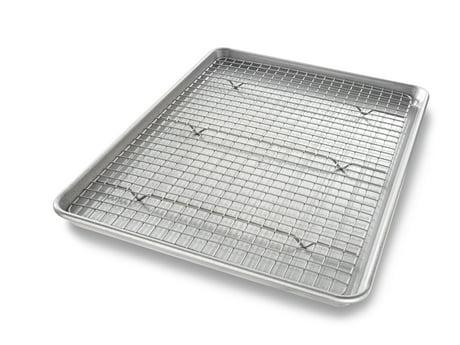 Usa Pan Non Stick Half Baking Sheet Amp Rack Set 13 Quot X 18 Quot