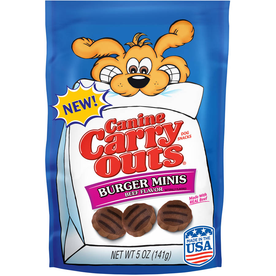 Canine Carry Outs Burger Minis Beef Flavor Dog Snacks, 5 oz