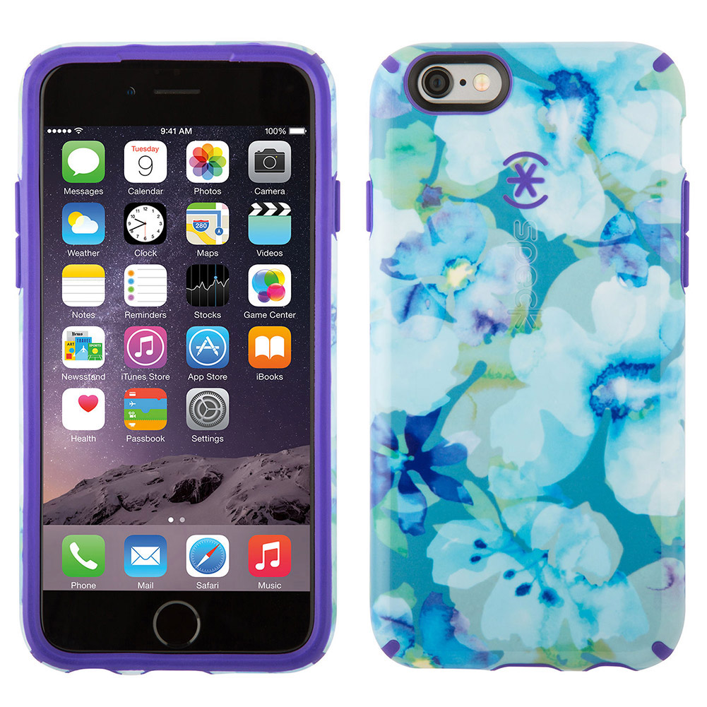 Speck Candyshell Inked Iphone 6 6s Plus Case Floral Blue
