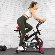 XtremepowerUS Indoor Cycling Exercise Bike with Water Bottle, Red