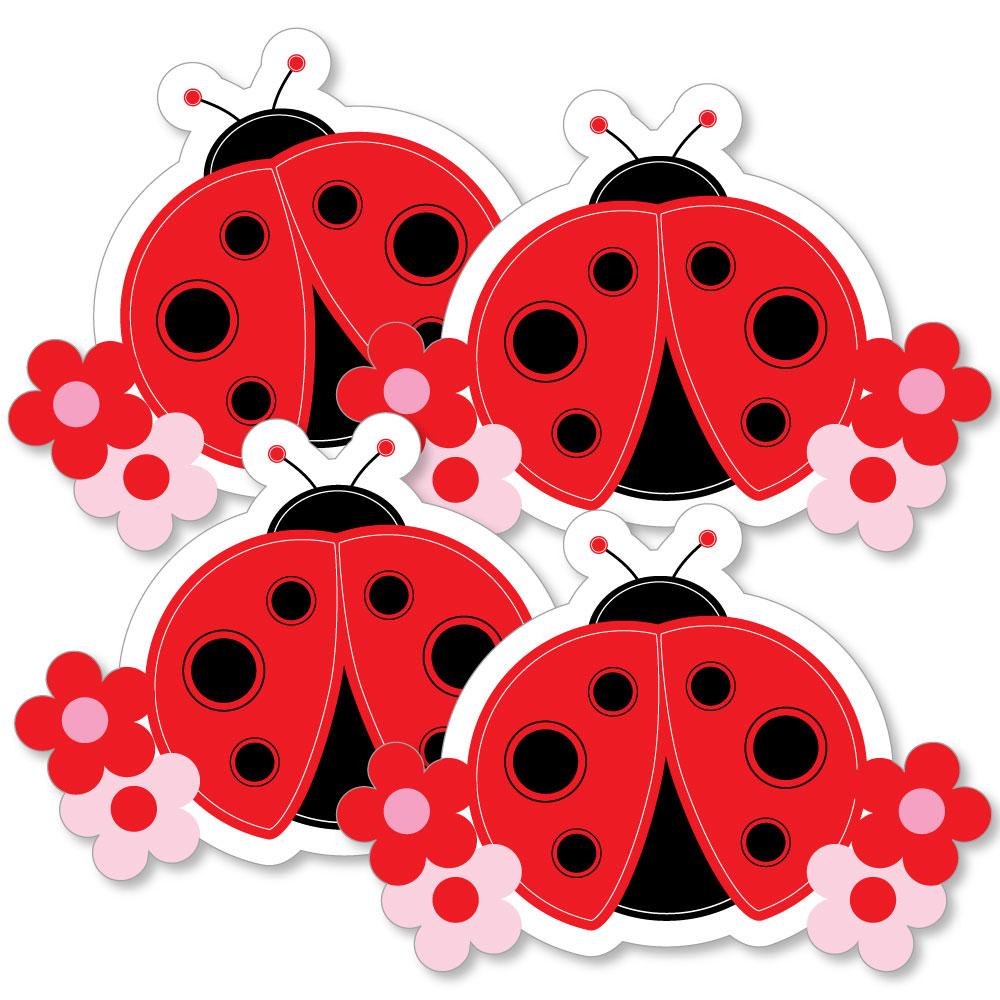 Modern Ladybug - Decorations DIY Baby Shower or Birthday Party Essentials - Set of 20