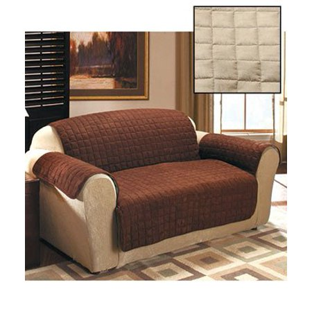 Quilted sueded furniture covers sofa stone cover for Quilted sectional sofa cover