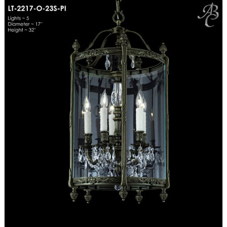 American Brass & Crystal Lantern 5-Light Foyer Pendant - Walmart.com