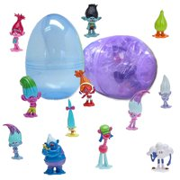 1 Jumbo Filled Easter Egg With 12 Troll Figurine Favors Inside