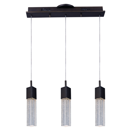 Pendants 3 Light With Bronze Tones In Finished LED Bulb Type size 5 inch 22.5 Watts
